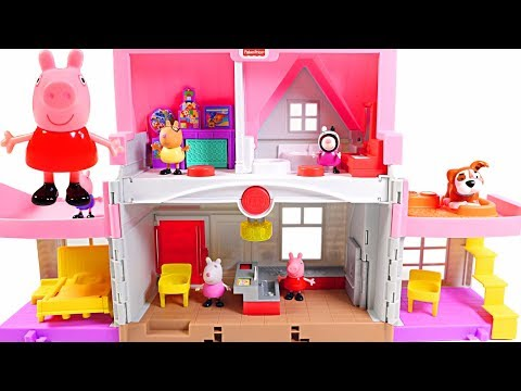 Mejores Videos Para Niños - Peppa Pig Little People House Fun Videos For Kids