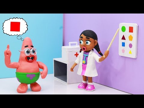 Doc Mcstuffins DOCTOR SAVES NEARSIGHTED Spongebob - Bob SquarePants Stopmotion, Cartoons for kids