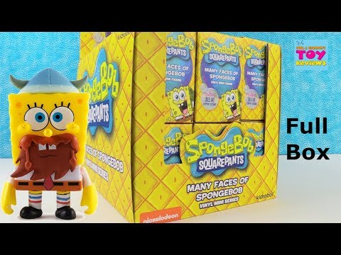 Spongebob Squarepants Many Faces Of Vinyl Figure Series Unboxing | PSToyReviews