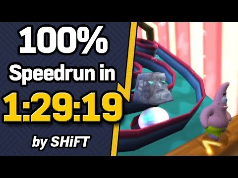 SpongeBob SquarePants: Battle for Bikini Bottom 100% Speedrun in 1:29:19 (WR on 11/19/2018)