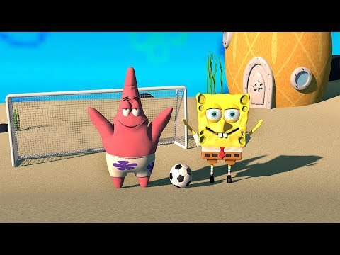 Spongebob Squarepants 3D | FOOTBALL GAME WITH PATRICK!!! | Funny Animation Videos