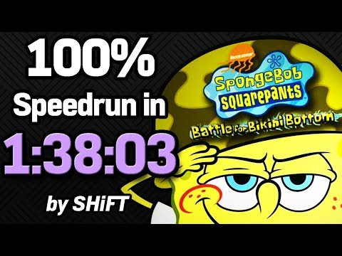 SpongeBob SquarePants: Battle for Bikini Bottom 100% Speedrun in 1:38:03 (WR on 7/31/2018)