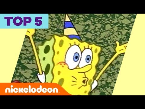 Top 5 Biggest Bikini Bottom Partayyys 🎉 | SpongeBob SquarePants | Nick