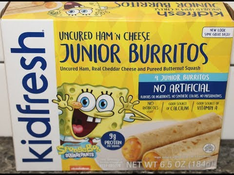 Nickelodeon Spongebob Squarepants Kidfresh Uncured Ham 'N Cheese Junior Burritos Review
