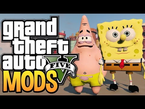 GTA 5 - SPONGEBOB AND PATRICK IN BIKINI BOTTOM (GTA 5 Funny Moments w/ Mods)