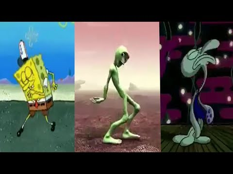 Spongebob & Squidward Dance (Dame Tu Cosita) | iGS Music