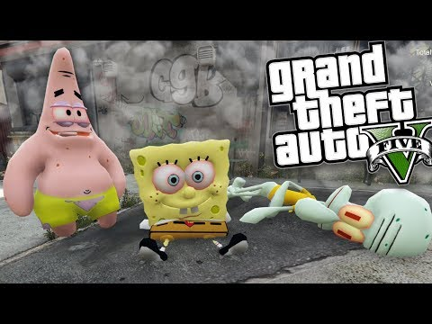 GTA 5 Mods - DRUG DEALER SPONGEBOB MOD w/ PATRICK & SQUIDWARD (GTA 5 Mods Gameplay)