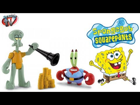 SpongeBob Imaginext-Mr Krabs & Squidward Figures Twin Pack Toy Review, Fisher Price