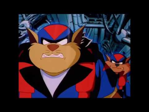 Swat Kats unplug Dr. Greenbox and Zed