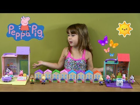 Peppa Pig Happy Family with Peppa Pig Little Bakery Shop and Hospital Toys and Blind Bag Houses