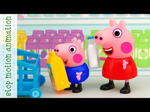 Daddy Pig's Shopping list Pig Peppa Pig TV toys stop motion animation