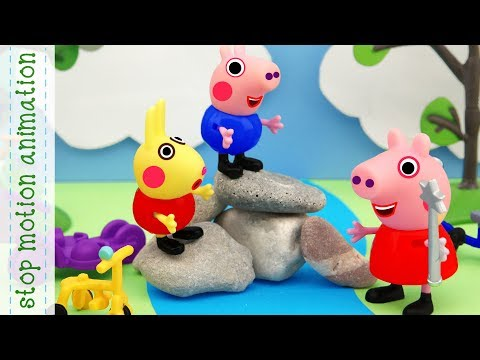 Magic River Peppa Pig tv toys stop motion animation in english