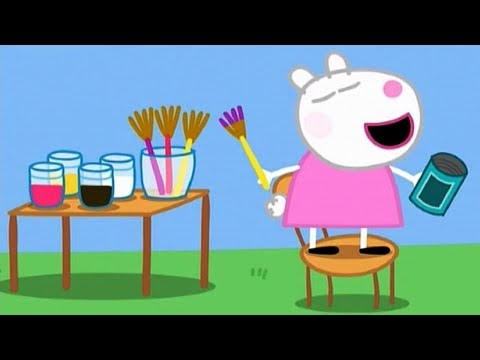 Peppa Pig Painting Episodes NEW Compilation English