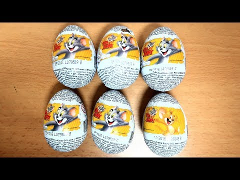 6 Tom & Jerry Surprise Eggs :)