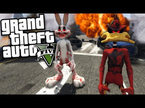 EVIL LOONEY TUNES MOD w/ BUGS BUNNY & DAFFY DUCK (GTA 5 Mods Gameplay)