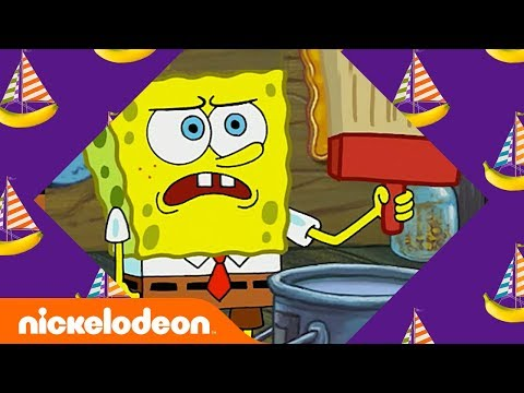 SpongeBob & Patrick: The Wet Painters 🎨 in 5 Minutes | SpongeBob SquarePants | Nick