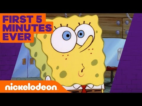 SpongeBob's Official Debut 🦀 The Very FIRST 5 Minutes of SpongeBob! | Nick